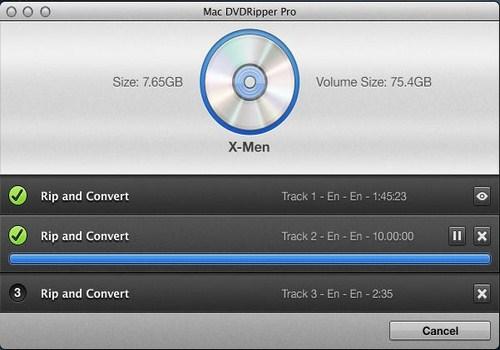 Capture d'écran Mac DVDRipper Pro