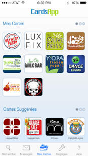 Capture d'écran CardsApp – Cartes de Fidélité