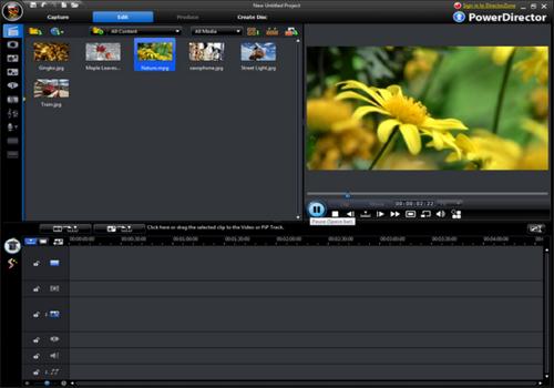 Capture d'écran Cyberlink Media Suite