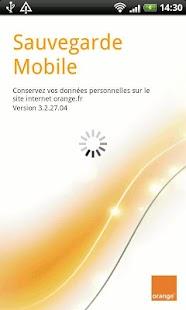Capture d'écran Sauvegarde Mobile