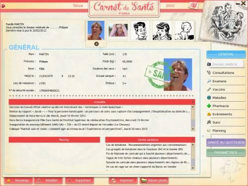 Capture d'écran POINKA Carnet de Santé