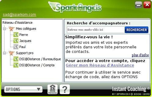 Capture d'écran SparkAngels