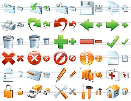 Capture d'écran Standard Software Icons