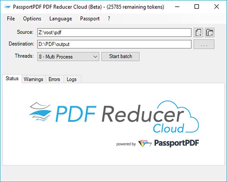 Capture d'écran PDF Reducer Cloud 1.0.13
