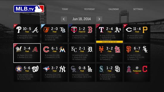 Capture d'écran MLB.TV