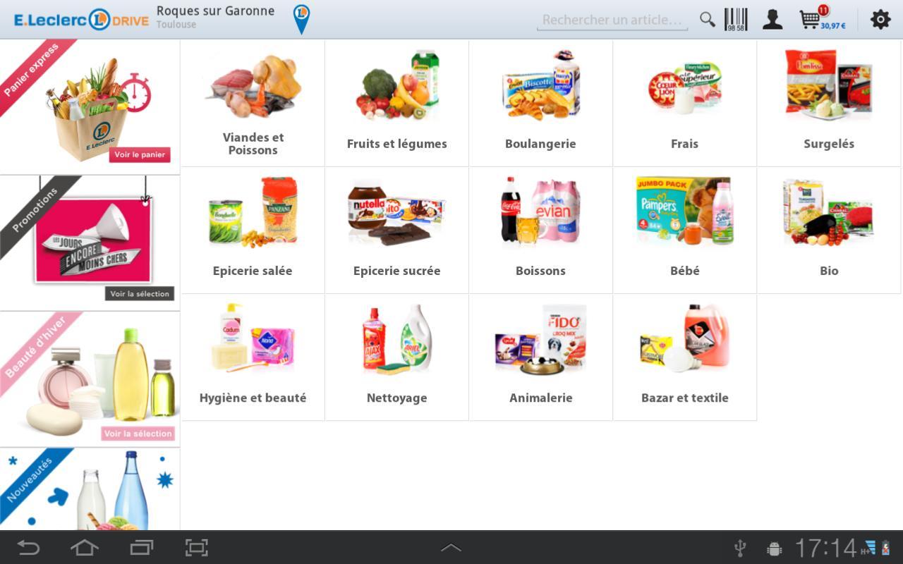 Capture d'écran LeclercDrive iOS