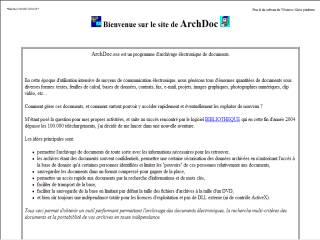 Capture d'écran ArchDoc