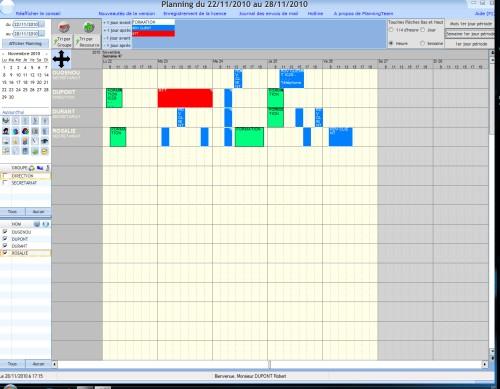 Capture d'écran PlanningTeam