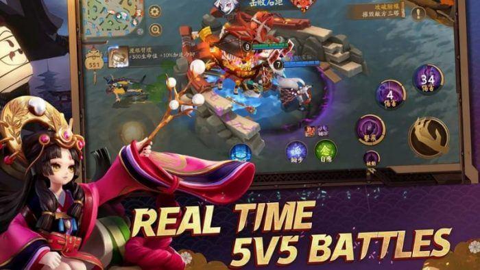 Capture d'écran Onmyoji Arena Android