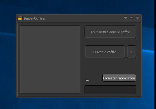 Capture d'écran SuperCoffre