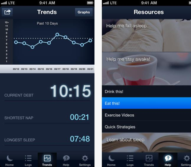 Capture d'écran SleepBot Smart Cycle Alarm iOS