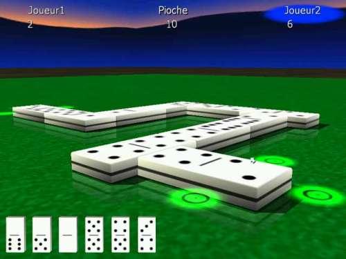 Capture d'écran 3DRT Dominos