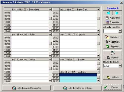Capture d'écran PENSE-BETE