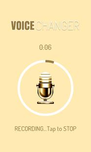 Capture d'écran Changer de Voix