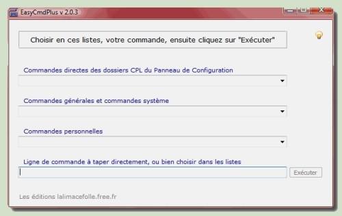 Capture d'écran EasyCmdPlus