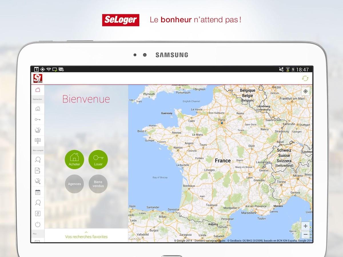 Capture d'écran SeLoger Windows Phone