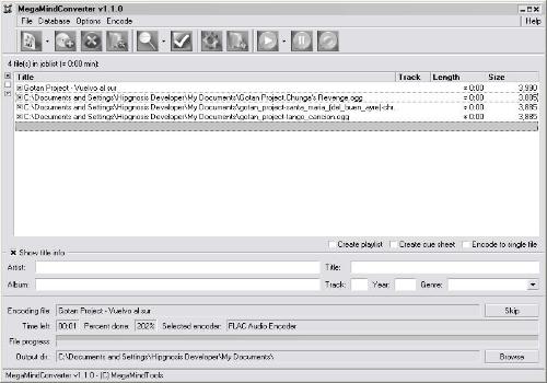 Capture d'écran MegaMind Converter