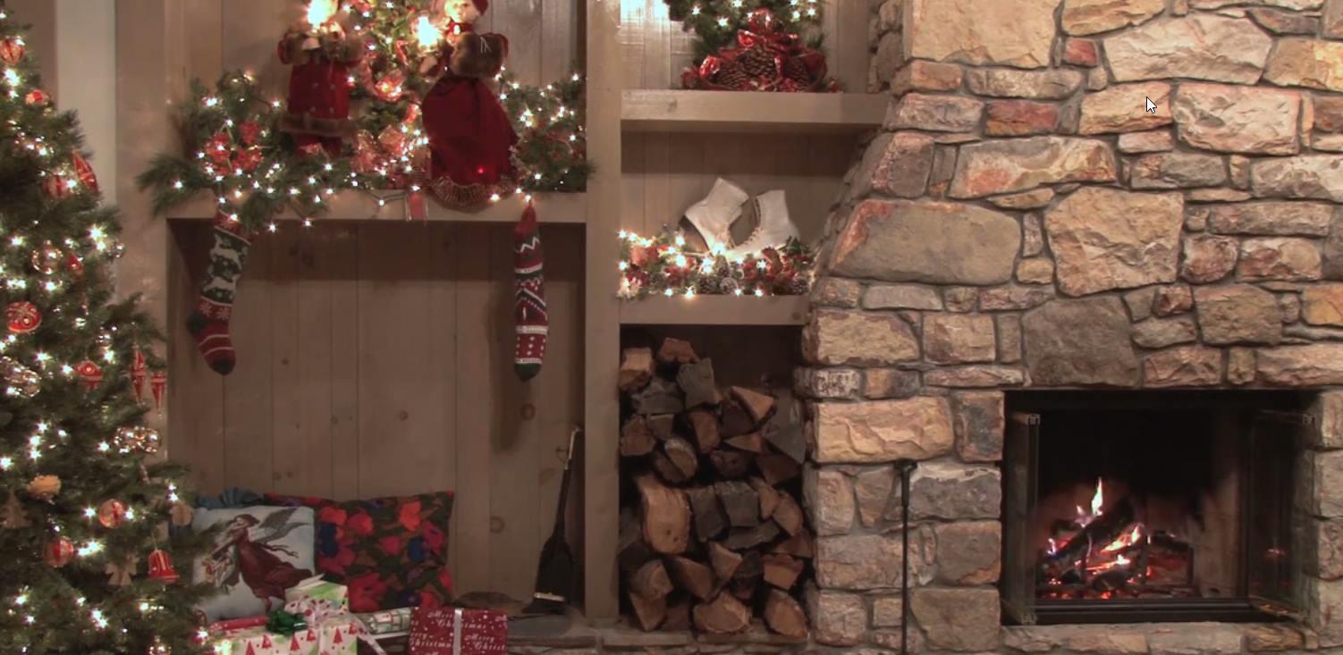 Capture d'écran Fond d'écran animé feu de cheminée Noël