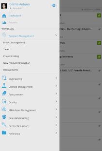 Capture d'écran Autodesk® PLM 360 Mobile