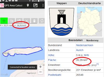 Capture d'écran GPS Area Distance  Calculator