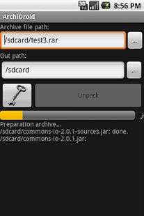 Capture d'écran ArchiDroid
