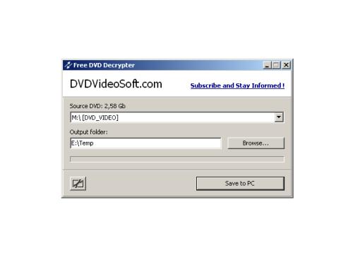 Capture d'écran Free DVD Decrypter