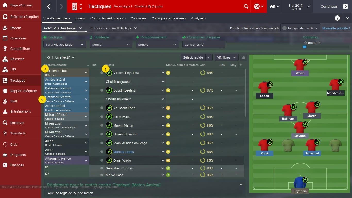 Capture d'écran Football Manager 2015 Linux