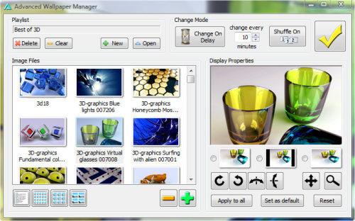Capture d'écran Advanced Wallpaper Manager