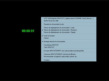 Capture d'écran ecran-de-veille.ORG Time