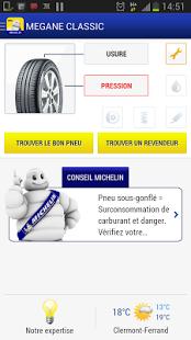 Capture d'écran Michelin MyCar