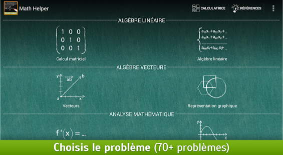 Capture d'écran Math Helper: Algèbre et Calcul