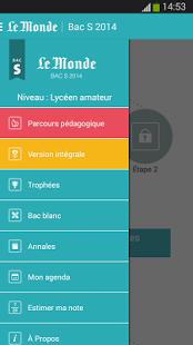 Capture d'écran Bac S 2014 – Le Monde