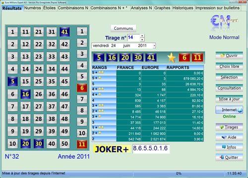 Capture d'écran Euro Millions Expert Pro