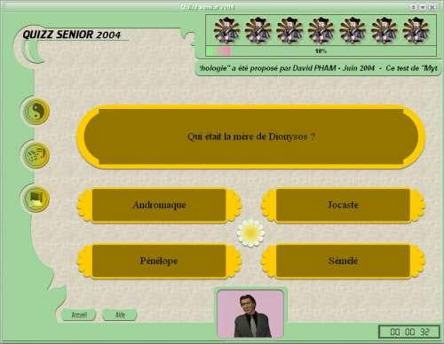 Capture d'écran Quizz senior 2004