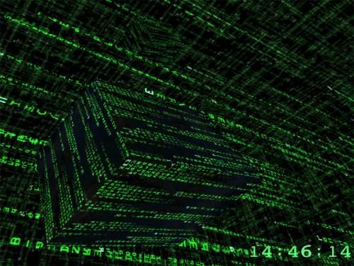 Capture d'écran 3D Matrix Screensaver