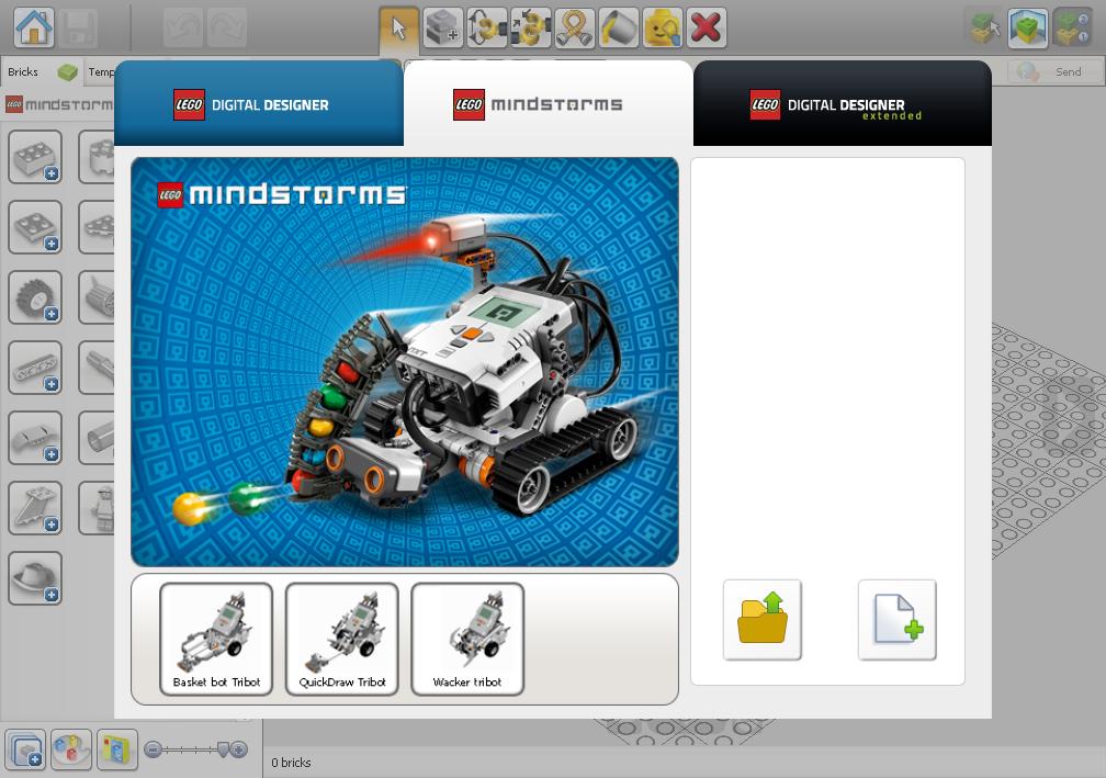 Capture d'écran Lego Digital Designer Mac