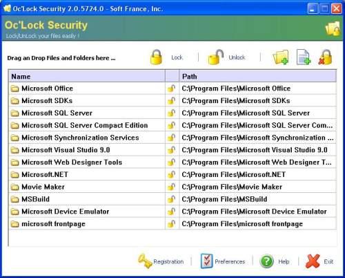 Capture d'écran Oc'Lock Security