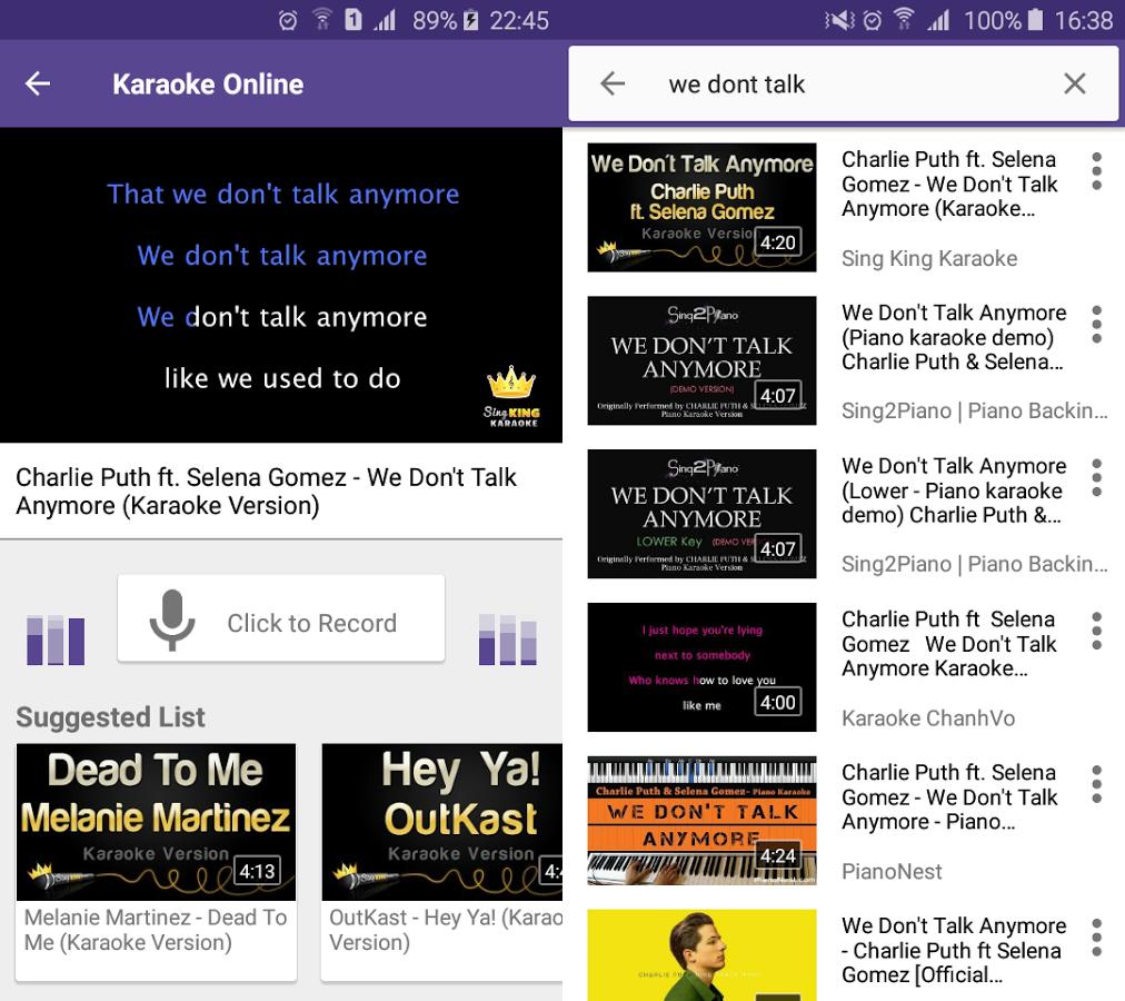 Capture d'écran Karaoké en ligne Android