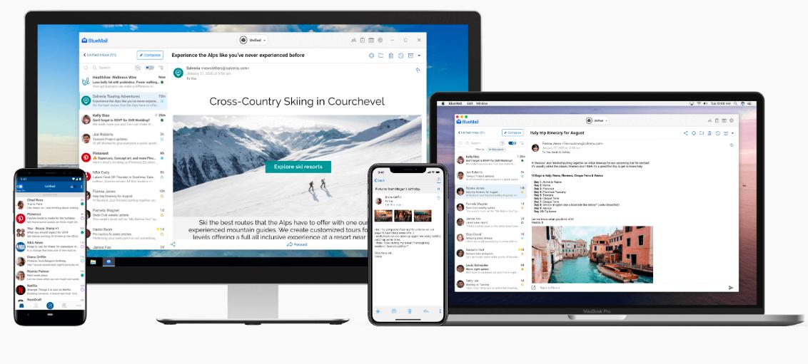 Capture d'écran Blue Mail Mac