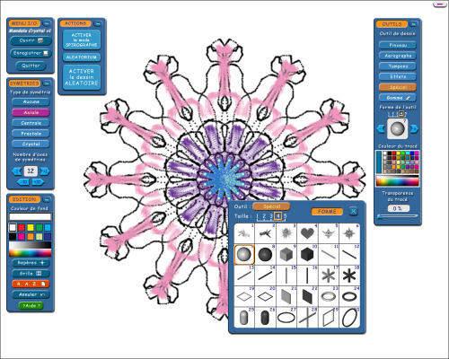 Capture d'écran Mandala Crystal Version Libre