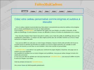 Capture d'écran FaitesMoiCadeau