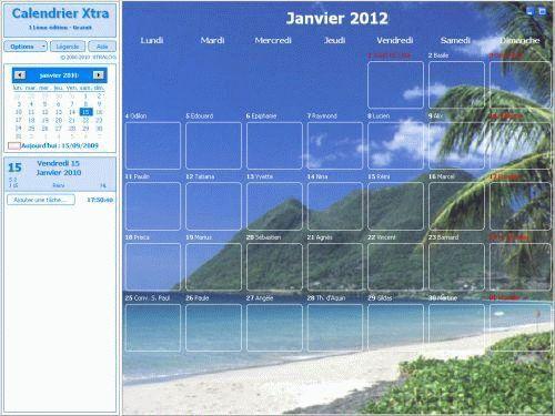 Capture d'écran Calendrier Xtra 2012