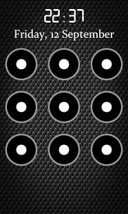 Capture d'écran Écran Pattern Lock Free