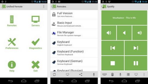 Capture d'écran Unified Remote Android