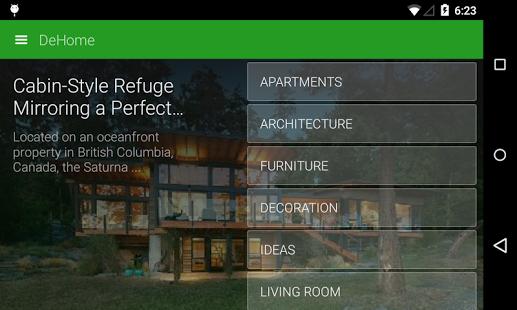 Capture d'écran DeHome – Architecture