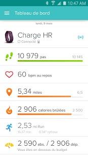 Capture d'écran Fitbit