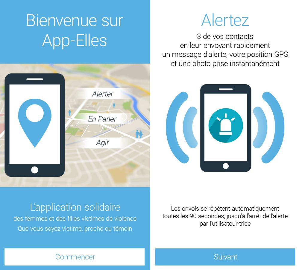 Capture d'écran App-Elles Android
