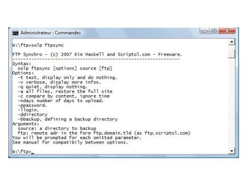 Capture d'écran PHP FTP Synchronizer