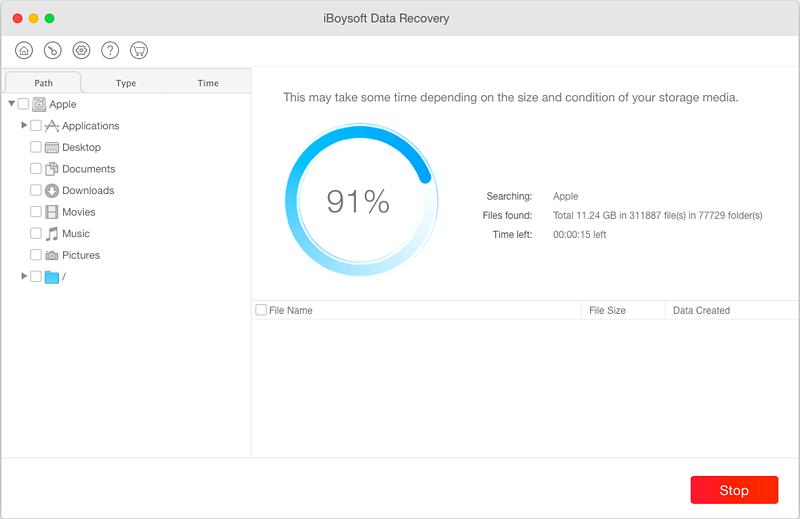 Capture d'écran iBoysoft Mac Data Recovery