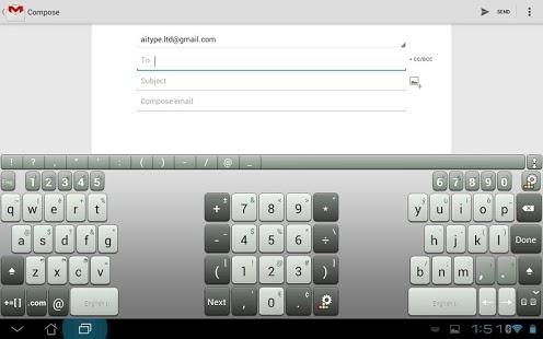 Capture d'écran Clavier gratuit pour tablette